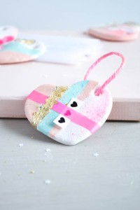Cute Handmade Hearts - salt dough photo