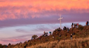 Angus Buchan's Men's Conference Cross on a hill