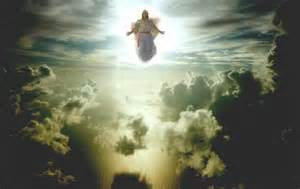 Jesus in the clouds during Rapture